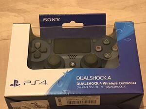 美品 PS4 ワイヤレスコントローラー 純正 デュアルショック4 ミッドナイト・ブルー
