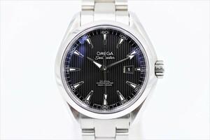 【オメガ】 腕時計 シーマスターアクアテラ コーアクシャル 231.10.34.20.01.001 ブラック SS 自動巻き 中古品