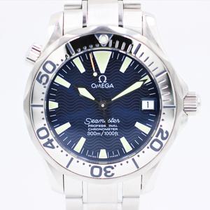 【オメガ】 腕時計 シーマスタープロフェッショナル300 2253.80 SS ブルー 36mmケース メンズ 自動巻き 中古品