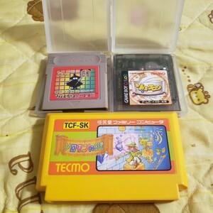 【動作確認済】TECMO ソロモンの鍵&ソロモンズ倶楽部&ソロモン FC&GB版