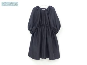 未使用 CECILIE BAHNSEN セシリーバンセン ワンピース ドレス AVA UK8 ブラックマルチ バックリボン 国内購入品