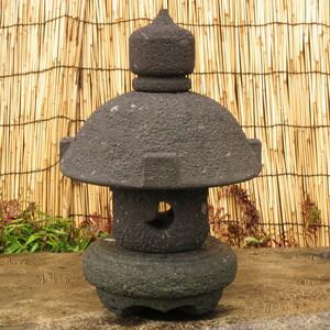 石灯篭 高さ60㎝ 重量41.5㎏ 岬灯篭 九州産天然石