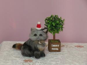 ★chako★ 羊毛フェルト  猫  ラガマフィン  子猫  ふわもふ