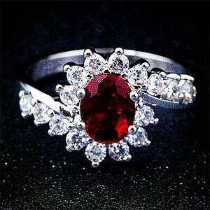 最高最上級カラー 2ct 17石 超大粒 レディース ルビーダイヤリング指輪【プラチナ仕上】注目 新品 贈答品 価格高騰中