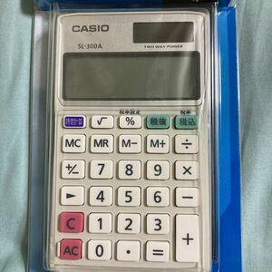 カシオ パーソナル電卓手帳タイプ 8桁 SL-300A-N (62-7070-41)