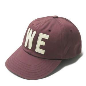 Joe cok ジョーコック WEロゴ刺繍 コットンツイルベースボールキャップ ONE SIZE バーガンディ 6パネル 帽子 mc67640