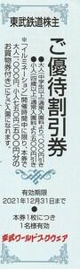 新着★東武鉄道株主★東武ワールドスクウェア★ご優待割引券★即決