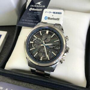 新製品 カシオ OCEANUS オシアナス OCW-T4000-1AJF 電波 ソーラー Bluetooth メンズ腕時計 保証3年有り チタン サファイア 未使用 新品同様