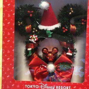 ディズニー クリスマスリース ミッキー型 ディズニーリゾート限定 ディズニーランド