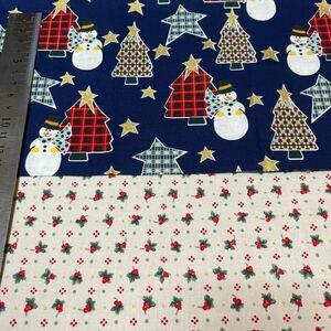 クリスマス 生地はぎれセット クリスマスツリー もみの木 雪だるま スノーマン ひいらぎ 柊 パッチワーク