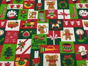 クリスマス 生地はぎれ パッチ柄 サンタクロース スノーマン 雪だるま パッチワーク テディベア