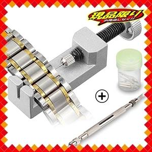 【期間限定】OFKPO 腕時計バンド調整 時計ベルト交換修理工具セット スペアピン付き メンテナンス 工具PED7