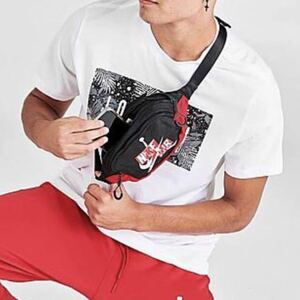黒 赤 ボディバッグ ショルダーバッグ ウエストポーチ 新品 NIKE JORDAN ナイキ ジョーダン 海外限定 ジャンプマン エア バスケダンス AIR