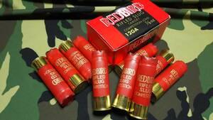 レッドバード ショットガン スラッグ装弾 使用済み薬莢 10個 と 元箱  No1
