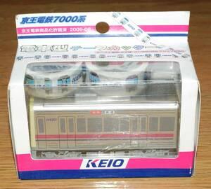 京王電鉄7000系 電車型テープカッター テープ2本付
