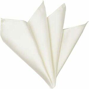 ホワイト (グランクレエ)【日本製】16色から選んでね《折り方ガイド付き》 ポケットチーフ シルク100% 光沢サテン 無地 メ