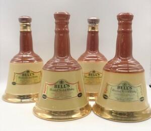 1円~ 4本セット BELL'S ベル 陶器ボトル スコッチ ウイスキー 古酒 未開栓 G14207