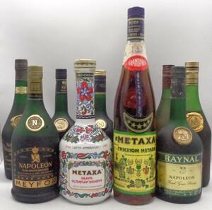 1円スタート ブランデー 10本セット メタクサ 陶器ボトル メイフォー レイナル 等 古酒 R6 C96815