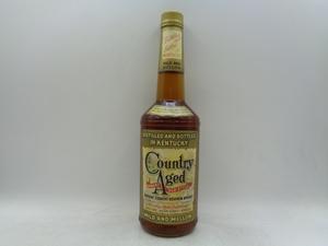 【同梱OK商品】COUNTRY AGED GENUINE OLD STYLE カントリー エイジ バーボンウイスキー 木箱入 未開封 古酒 750ml 40% X71932
