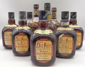1円スタート スコッチ ウイスキー 10本セット(1L~375ml) オールドパー シーバスリーガル12年 古酒 S14 E96845