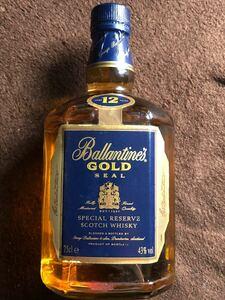 バランタイン12年ゴールドシール750ml