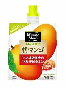 コカ・コーラ ミニッツメイド 朝マンゴ ゼリー飲料 パウチ 180g×6個