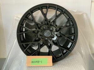 中古 ホイール 1本 TSW セブリング 18×8.5J +35 5H-100 Mブラック W0198 301009