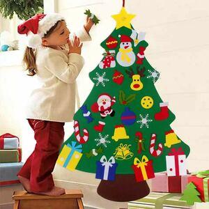 【送料無料】 クリスマスツリー 壁飾り サンタクロース 贈り物 プレゼント インテリア クリスマス