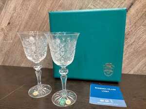 C1359 ボヘミアクリスタル ペア ワイングラス BOHEMIA CRYSTAL ペアグラス ワイングラス 発送 定形外 送料全国一律1040円