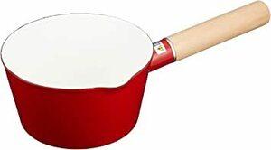 赤 15cm 和平フレイズ 片手鍋 ミルクティ カフェオレ ミルクパン 15cm 赤 ガス火専用 ホーロー