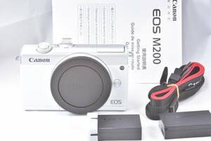 Canon ミラーレス一眼カメラ EOS M200ボディ美品!! 純正バッテリー2個付き!