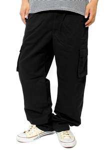 【新品】 6L ブラック カーゴパンツ メンズ 大きいサイズ ミリタリー ワーク ウエストゴム リラックス ゆったり イージーパンツ