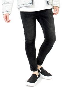 【新品】 L ブラック コーデュロイパンツ メンズ スキニーパンツ ストレッチ ヴィンテージ ユーズド加工 スリム 9分丈 アンクルパンツ