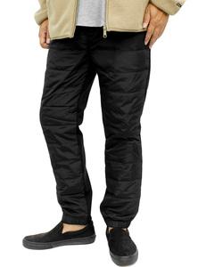 【新品】 4L ブラック ジョガー ダウンパンツ メンズ 大きいサイズ 裏起毛 あったか 防寒 ジョガーパンツ