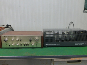 LUXKIT プリA3300 メインA3500真空管アンプです、テスト済み、プリはメインの電源で作動します。
