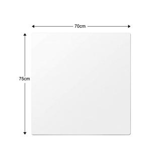 冷蔵庫マット 70*75cm 厚さ2.0mm 無色 透明 PVC キズ防止 凹み防止 床保護シート 滑り止め 床暖房対応 下敷き Lサイズ 冷蔵庫600Lクラス