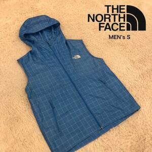 ★1円~★THE NORTH FACE【ザ ノースフェイス】メンズSサイズ ナイロンベストジャケット 正規品 アウトドアファッション キャンピング
