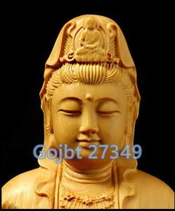 【1円開始】MD154★☆ 最高品質 ☆★観音菩薩 仏像 木質彫刻 彫刻 仏像