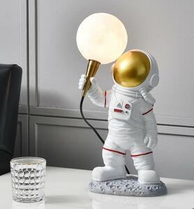 【1円開始】BD033宇宙人/宇宙飛行士/壁掛け照明 美品 ステンドランプ 電気スタンド テーブルライト 高級照明