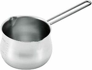 シルバー 1000ml タケコシ 18-8ミルクパン 1000cc 目盛付 ワイヤーハンドル