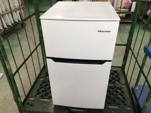大阪府八尾市引き取り限定 Hisense/2ドア冷凍冷蔵庫 ハイセンス HR-B95A 2019年製 93L コンパクト 単身 小型 動作品