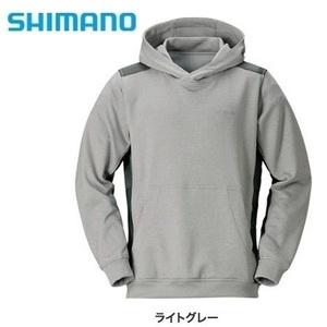 シマノ ライトスウェットパーカー JA-075R ライトグレー M 新品 SHIMANO ジャケット パーカー フーディ スウェット