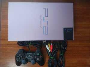 【メンテ済み】PS2 SCPH-39000 サクラ 桜 動作確認済み SONY ソニー プレイステーション2 本体 メモリーカード PlayStation2 限定 sakura