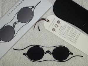 人気の 栞 shiori 流通極少! ラウンド サングラス 丸メガネ 度無し 携帯に重宝! 薄型 折り畳み式 SI-04 ●未使用 若しくはそれに近い