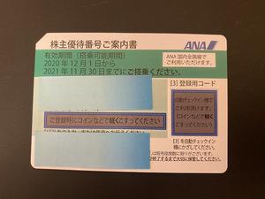 ANA株主優待券 有効期限を2022年5月31日まで延長