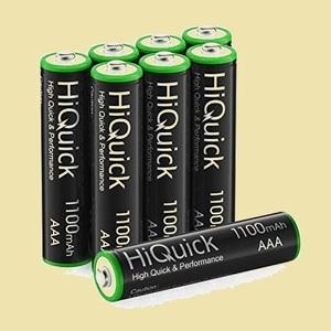新品 未使用 電池 HiQuick 6-QL 充電式 単四充電池セット 単4 充電式 単4充電池 ニッケル水素電池1100mAh 8本入り ケ-ス2個付き