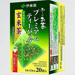 好評 新品 お-いお茶 伊藤園 3-V8 宇治抹茶入り玄米茶 2.3g×20袋 プレミアムティ-バッグ