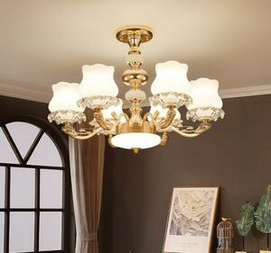高級LED シャンデリア照明 クリスタルシャンデリア リビングルーム 寝室 ホテル モダンインテリア 6灯
