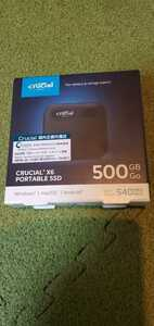 【新品未開封・送料無料】Crucial X6 超小型超高速USB Type-C 外付け SSD 500GB CT500X6SSD9 PS5/PS4 動作確認済み