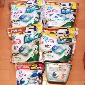 ジェルボール6袋290こセット★アリエージェルボールバイオサイエンス4D 部屋干し4袋  3D ダニよけプラス 洗濯洗剤 炭酸